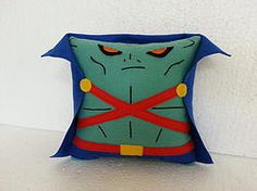 Handmade Martian Manhunter Justice League Plush Pillow #marvel #dccomics $27.95 http://www.rbitencourtusa.com/#!product/prd1/2663337271/handmade-martian-manhunter-justice-league-pillow