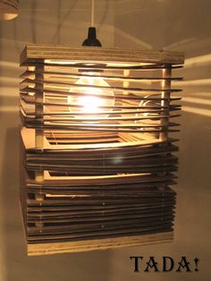 cardboard light, DIY @Cressida Raffin Kahn