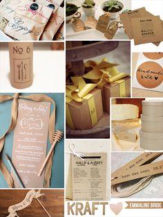 Kraft Wedding Ideas That Work (via EmmalineBride.com)