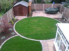Circular Garden Design, Circular Lawn, Back Garden Design, Herb Garden Design, Back Gardens, Small Gardens, Outdoor Gardens, Small Square Garden Ideas, Garden Design Pictures
