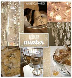 HOMEward Found Decor: welcome winter...