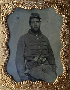 A ninth plate tintype of a Johnny Reb. This one has his name scratched into the backside of the preserver. Mr. Joseph Cady of Alabama. Joseph muster with Co. B of the 3rd Alabama Volunteer Militia on March 1st of 1862. After a short stint with that regiment it was mustered out and he then took arms with Co. A of the 11th Alabama Infantry. The 11th saw a lot of very heavy action during their service. Not much information can be found on Cady but it appears he did sign his Oath of Allegiance…