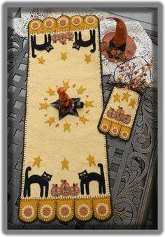 Halloween penny rug