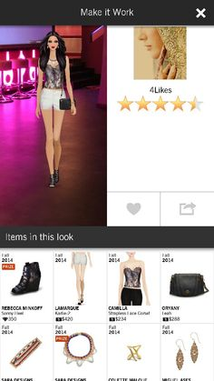 Crystal Necklace by Sara Designs & white Karlie-2 shorts by LaMarque #fall2014 #makeitwork Received exactly 5.00, stars only show 4.5 :/