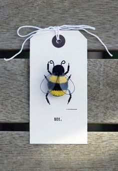 Felt Bee Brooch by Annelise Norman (Madeit.com.au)