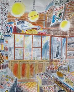 A Parisian deli, captured by @emsutton1983 - one of the pieces Emily will be exhibiting @yspsculpture from 25th June as part of our 'Editions & Objects' show