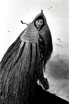 Japanese straw cape, photo by Asano Kiichi (Japanese, 1914-1993)