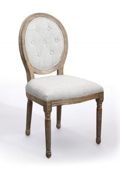 pair of 2 x louis linen style natural dining chair instantly add style to a room by gracing the decor with this louis style chair this chair offers a regal