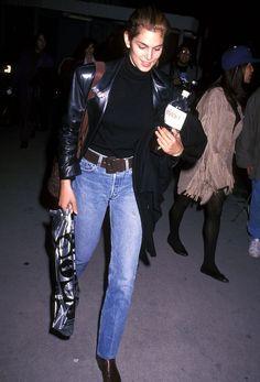 Chaqueta de ante - Estilo working girl por Cindy Crawford en los 90 - TELVA.com