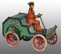 Tin Wind Up Toys | 1317: Tin Litho Lehmann Oho Car Wind-Up Toy : Lot 1317