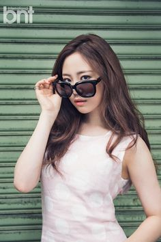 KARA& maknae Youngji showed four different sides of herself in her latest photoshoot with & bnt& and she easily pulls off every look! Korean Star, Korean Girl, Asian Girl, Kara Youngji, Asian Fashion, Girl Fashion, Heo Young Ji, Big Sunglasses, Girls With Glasses