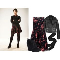 Clara Oswald - Nightmare in Silver by roseunspindle on Polyvore featuring Parisian, rag & bone, Fogal, Vince Camuto, Coleman, floral, Leather, doctorwho and ClaraOswald