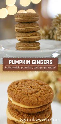 Pumpkin Ginger Snaps