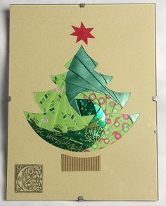 Carte Sapin - Iris Folding