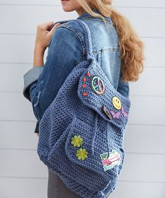 Patch Backpack Free Crochet Pattern