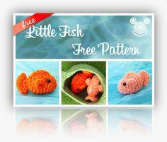 Amigurumi Little Fish Free Crochet Pattern and Tutorial on Buddy Rumi at http://www.buddyrumi.com/blog/2012/7/14/little-fish-free-pattern.html
