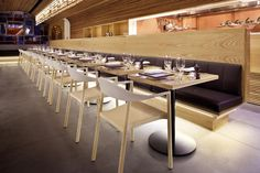 American Oak Veneer And Solid Timber Banquet Seating With Strip Lighting 2 Restaurant Design, Restaurant Bar, Garden Pavillion, Banquet Seating, Timber Ceiling, Reception Counter, Entry Foyer, Cafe Bar, Strip Lighting