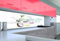 Tezgah arası cam resimleri ve mutfak tezgah arası cam panel modelleri.Ankara tezgah arası cam