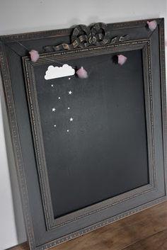 cadre noeud peinture ardoise + sticker