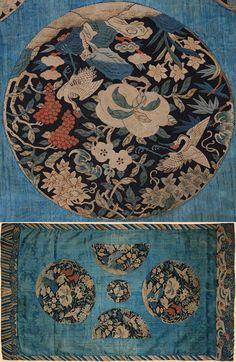 Antique Chinese Silk Kesi panel    1800-1900 A.D