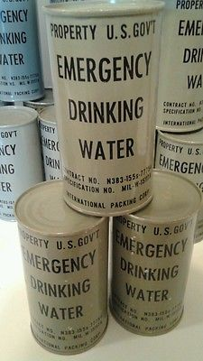 LOT! US GOVERNMENT EMERGENCY DRINKING WATER Cold War 1952 Vintage Unopened