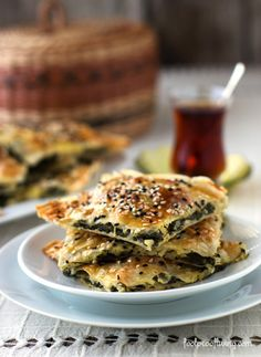 "Spinach and Feta Cheese Börek- A recipe with a ""how to"" VIDEO. #borek #middleastern #breakfast"