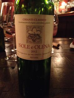 2012 Isole e Olena Chianti Classico  Nice color. It's a smooth Chianti Classico that pairs well with food. It's not so memorable, but good nonetheless. BP: Buy to try