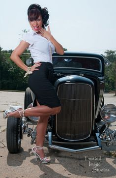 on Sexy streetrods woman