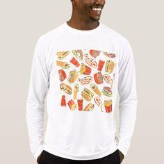 Colorful Pattern Illustration Fast Food T-Shirt - mens sportswear fitness apparel sports men healthy life