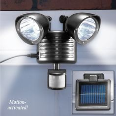 Motion Sensored Solar Security Lights from Collections Etc.