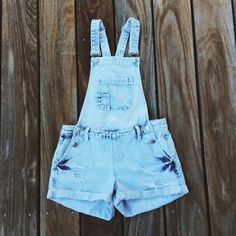 ac825c5ab5f The Cutest Light Wash Denim Shorts Overalls    Distressed. Depop