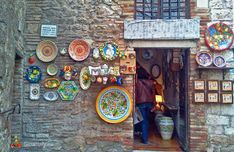 Gubbio Umbria  -  had a couple of nice lunches there.  Wonderful ceramics