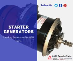 Find starter generator from leading aviation parts manufacturers. ASAP Supply Chain is leading distributor of starter generator.  #starterGenerator #AviationParts #Aviation