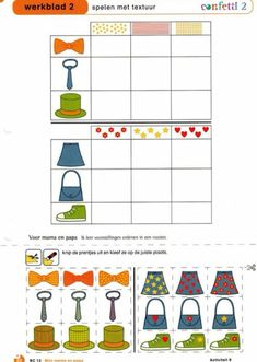 Werkblad duolink Visual Perception Activities, Brain Activities, Preschool Activities, Montessori Math, Homeschool Kindergarten, Logic Games, Math Games, Theme Carnaval, Self Contained Classroom