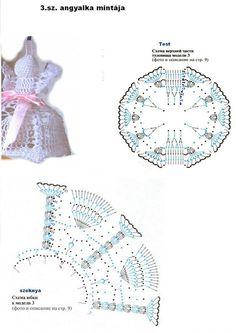 MK Crochet Angel Pattern, Crochet Angels, Crochet Patterns, Thread Crochet, Knit Or Crochet, Free Crochet, Crochet Ornaments, Holiday Crochet, Christmas Decorations