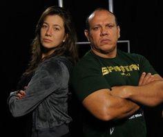 Viviane Ribeiro e eu no canal Combate.
