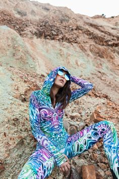 LIQUID INSECT FIT ONESIE by BADINKA.  Fitted long sleeve festival hooded bodysuit.  Check out our website for more Burning Man fashion, EDM outfits and festival outfit ideas! #BurningMan #festivaloutfit #festivalfashion #bodysuit #sexycostume #onepiece #BADINKAstyle #BADINKA Burning Man Fashion, Burning Man Outfits, Festival Outfits, Festival Fashion, Festival Bodysuits, Rave Suits, Dark Costumes, Bodysuit Costume, Edm Outfits