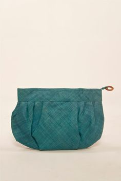 Vintage Pleated Woven Clutch