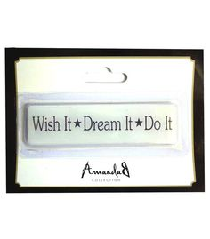 Magneetti Wish It Dream It Do It, Wish, Personalized Items, Frame, Cards, Picture Frame, Maps, Frames, Playing Cards