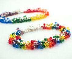 c5edf5e230d NEW Shaggy Beaded Bracelet Rainbow Miyuki by UnkamenSupplies