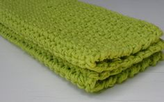 Set of 2 Lime Green Extra Large Wash/Dish by HandmadeVisions, $7.50