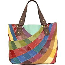 Patchwork Leather Tote