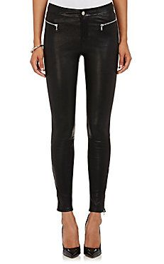 Emma Leather Skinny Jeans