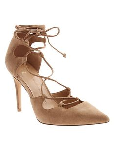 Dakota Lace-Up Pump | Banana Republic @ 138.  New purchase @ 40% off.  Love them and so comfortable!