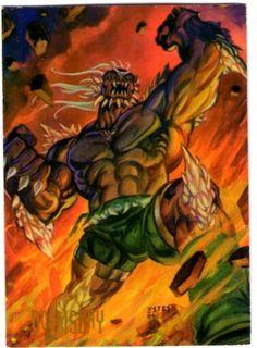 9-Doomsday  La misteriosa fuerza e invulnerabilidad de Doomsday es sobrepasada únicamente por su deseo de muerte y destrucción. Muerto por Superman (quien a su vez murió a manos del monstruo), el cuerpo de Doomsday fue arrojado al espacio exterior por Cyborg  Superman; pero Doomsday y el Hombre de Acero están vivos de nuevo y decididos a terminar definitivamente su batalla en lo más profundo del espacio.