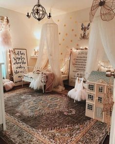 Classic Tulle Canopy Little Girls Room Canopy Classic Tulle Big Girl Bedrooms, Little Girl Rooms, Girls Bedroom, Nursery Room, Girl Nursery, Nursery Ideas, Vintage Nursery Girl, Hippie Nursery, Victorian Nursery