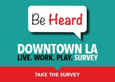 DowntownLA.com wants your opinion to help shape the future of DTLA! Fill out a quick survey to help improve the city and you could win great prizes! #DTLA #DowntownLA #DowntownLosAngeles #LA #LosAngeles #survey