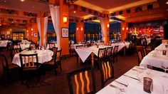 Panoramic view of The Dining Room at Wolfgang Puck Grand Café