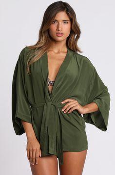 2015 ACACIA Swimwear Huelo Kimono in Palm