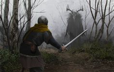 Fog by EthicallyChallenged | Digital Art / Drawings & Paintings / Illustrations / Conceptual | Fantasy Character Concept Warrior Knight Squire Swordsman Mage Druid Shaman